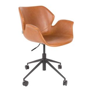 Chaise de bureau professionnel Nikki Marron