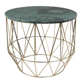 Table basse ronde en marbre Boss
