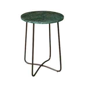 Table d'appoint marbre vert Emerald
