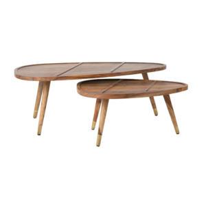 Tables basses en bois massif Sham