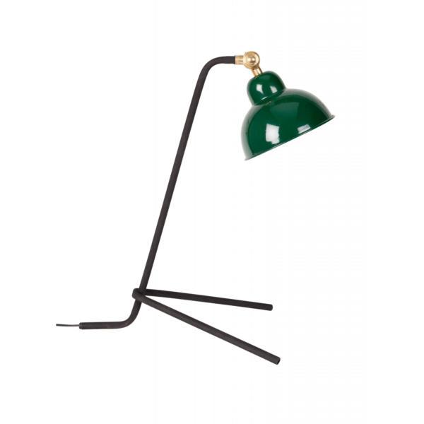 Lampe de bureau en métal vert Jock