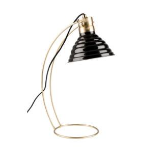Lampe de bureau vintage dorée Curly Noir