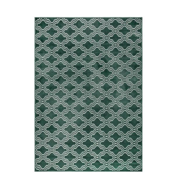 Tapis imprimé géométrique Feike Vert