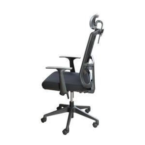 Chaise de bureau réglable Mymood avec appui-tête de côté